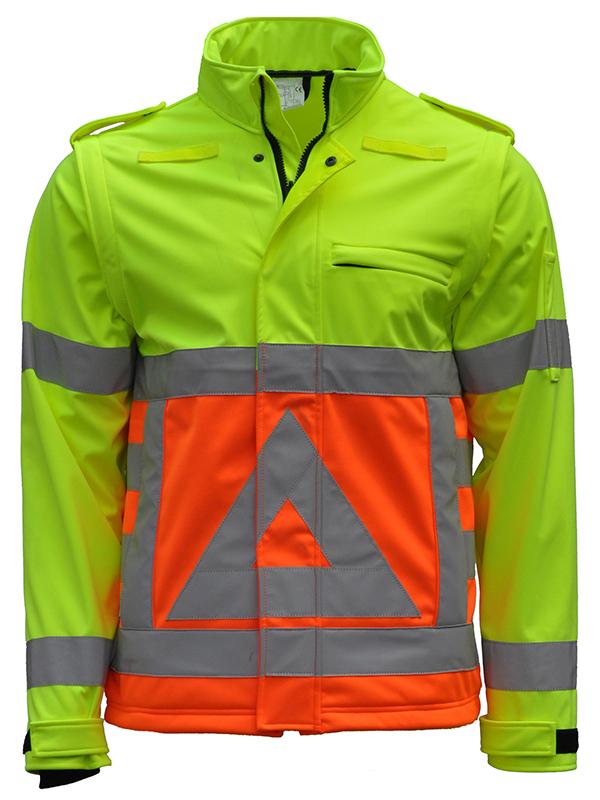 41500 Softshell verkeersregelaar Voorkant-0 graden. Merk Anchor Workwear
