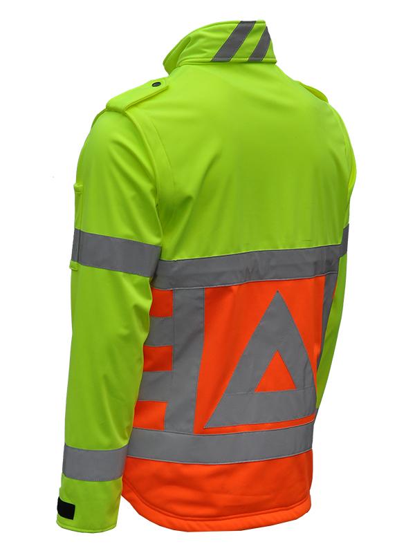 41500 Softshell verkeersregelaar. Merk Anchor Workwear Schuin -135 graden