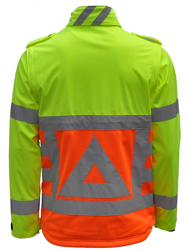 41500 Softshell verkeersregelaar. Merk Anchor Workwear Achterkant -180 graden