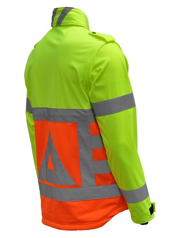 41500 Softshell verkeersregelaar. Merk Anchor Workwear Schuin-225 graden