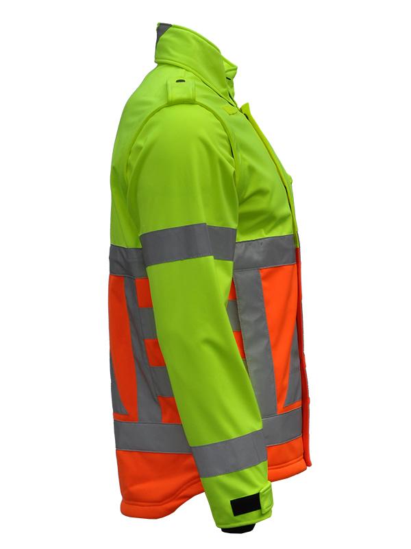 41500 Softshell verkeersregelaar. Merk Anchor Workwear Zijkant -270 graden