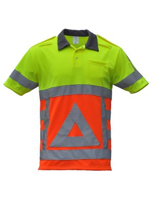 41910 Polo verkeersregelaar korte mouw voorkant. Merk: Anchor Workwear