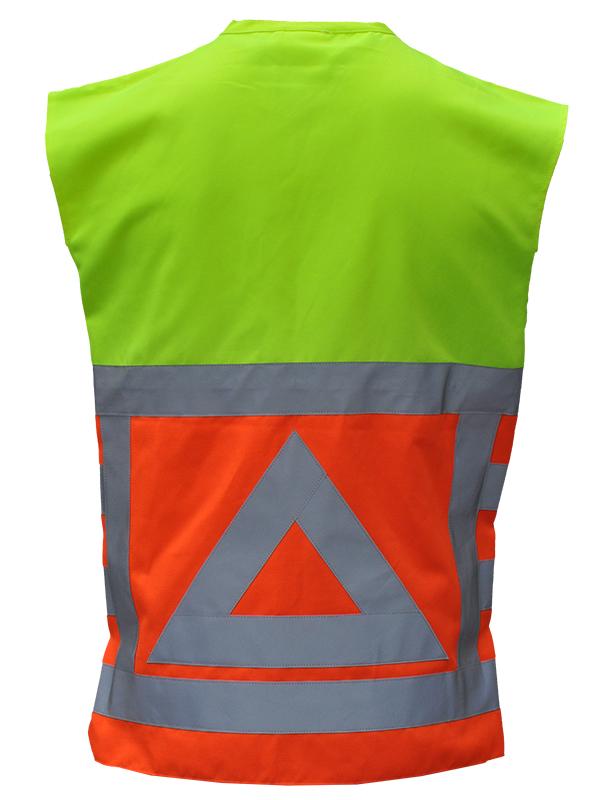 80753 Vest verkeersregelaar Achterkant. Merk: Anchor Workwear   EN ISO 20471 klasse 1